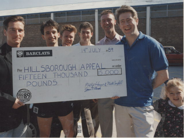 Hillsborough appeal fund cheque